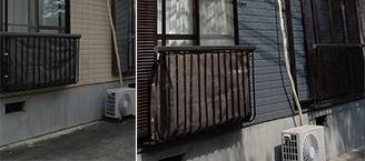 アパート外壁塗装の施工前