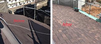 屋根カバー工法のイメージ
