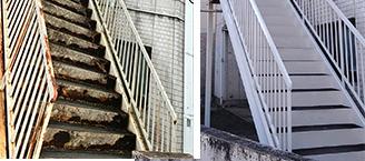 鉄骨階段塗装工事のイメージ