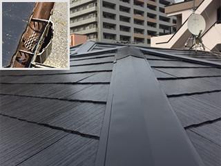 屋根塗装(専用シーラ+屋根フレッシュ2液塗料)3回塗の施工後