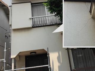 外壁塗装(微弾性+シリコン塗料)3回塗の施工前