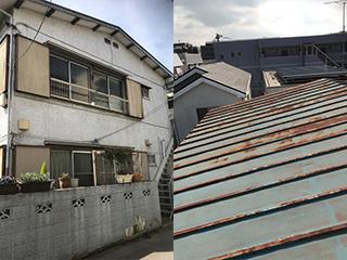 屋根・外壁塗装工事の施工前
