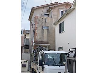 屋根・壁塗装、足場工事の施工前