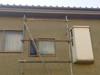 一戸建て 補修吹き付け塗装の施工前