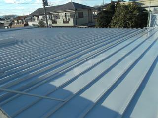倉庫 屋根塗装工事の施工後