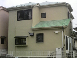 一戸建て 外壁塗装工事の施工後